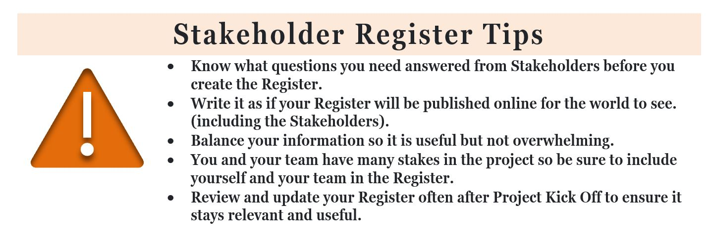 Stakeholder Register 5